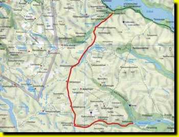 kart over kebnekaise Abisko Nikkaluokta kart over kebnekaise