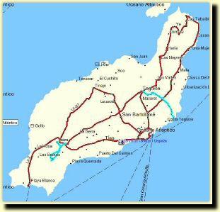 Spanien Lanzarote Karta.Lanzarote Karta