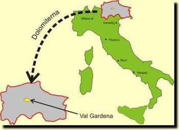 dolomiterna italien karta Val Gardena 2003 dolomiterna italien karta
